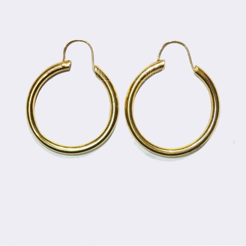 1970s vintage 14k gold hoop earrings 14kt gold by luvsjewellry