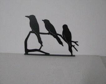 Song Birds on a Limb Mailbox Topper Metal Yard Art