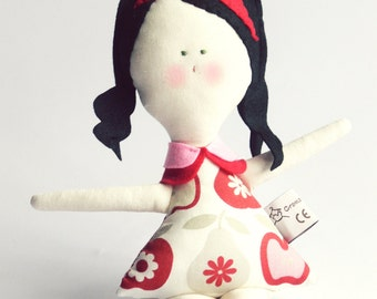 Child friendly cotton and felt kids Doll - Handmade in Italy -