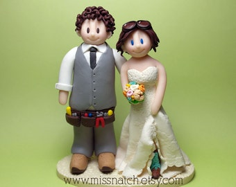 DEPOSIT - Custom Personalized Made to Order Wedding Cake Topper