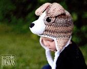 CROCHET PATTERN Buddy the Jack Russell Terrier Hat Crochet Pattern in PDF