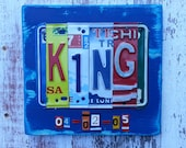 10th Wedding Anniversary Tin Aluminum Gift - 10 year wedding anniversary gift for man husband men - License Plate Sign Name Art Personalized