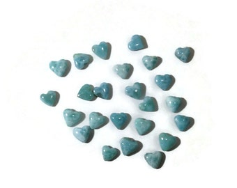 Larimar heart cabochon larimar cab for your jewelry project