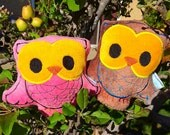 Owl Plush - Organic Baby Toy -Woodland Owl Baby Toy - Bird Plushed Animal - Owl Softie for kids - Baby Boy oder Baby Girl Gift - Kid Safe