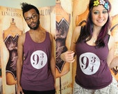 Train Station top. American Apparel unisex 50/50 tank top, size extra small to xl.