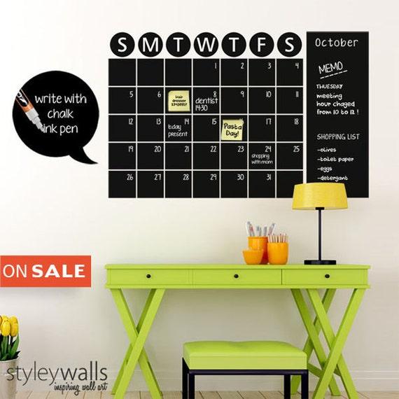 Chalkboard Calendar Decals Chalk Board Wall Calendar Vinyl Wall Decal Christmas Gift Chalkboard Decals Chalkboard Wall Calendar Stickers