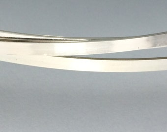 6 inches sterling silver 4mm x 1mm flat rectangle wire stock, great for wider band rings,  dead soft wire