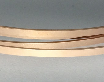 1 OZT, 14kt ROSE gold fill flat stock, wire supplies, commercial, rectangle, great for rings and cuffs, choose size,