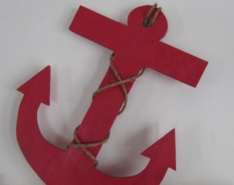 Handmade 2 foot Reclaimed Wood Anchor. Wood Anchor. Wooden Anchor. Nautical Guest book. Nautical Decor. Lake Decor. Made to Order