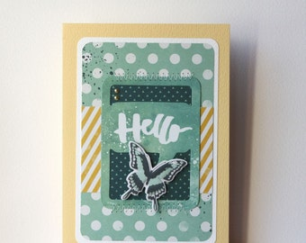 Hello Butterfly Handmade Card
