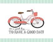 vintage bicycle print