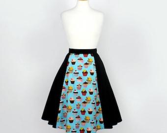 Blue Cupcakes Full Circle Skirt