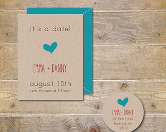 Save The Dates, Hearts Wedding Save The Dates, Heart Save The Dates, Hearts,  Rustic Save The Dates, Rustic Weddings