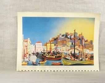 Lisbon Image , Lisbon , Portugal , TWA Calendar , 1949 , Frameable Images , Travel , Vacation , Advertising , Rex Werner , Photography