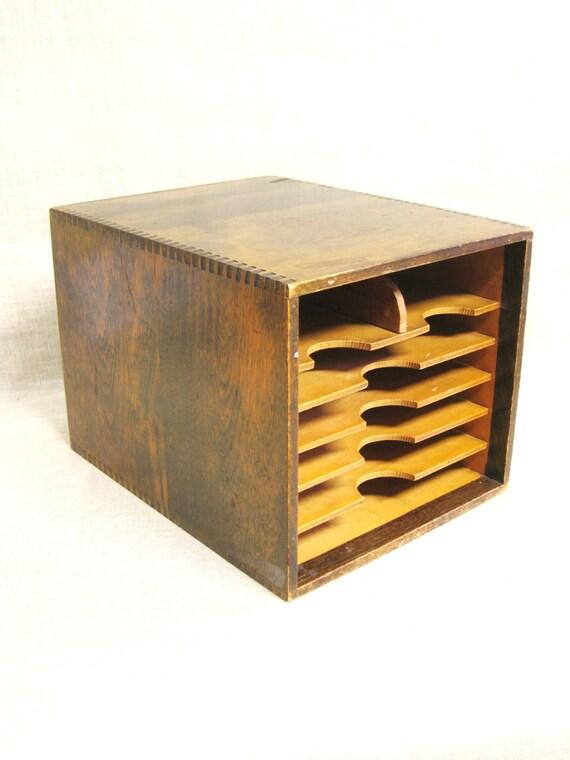 bo te de bureau dossier en bois bo te en bois rangements de. Black Bedroom Furniture Sets. Home Design Ideas