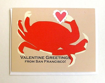 SF Crab Valentine Card