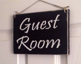 Guest Room 8x6 (Choose Color) Rustic Bedroom B and B b&b Vacation Rental Shabby Chic Sign