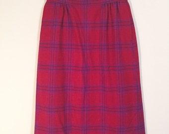Pendleton plaid skirt sz 4 petite