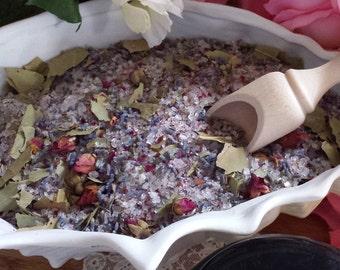 Herbal Bath Salt, Herbal Bath, Dead Sea Salt, Lavender Buds