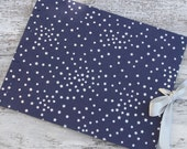 Extra Large Watercolor Art Journal, Navy Blue with Silver Stars, Reserved for Nicole