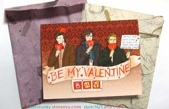 ADORABLE Sherlock valentine's card, perfect for any Sherlockian. Click through for more Valentine's Day inspiration and gift ideas for Sherlock.