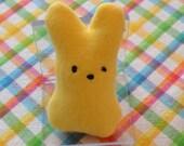 Yellow Peeps Bunny for your Sock Monkey or Doll