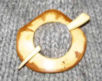 Apple Wood Shawl Pin Set