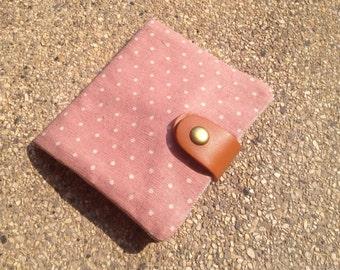 Tissue/ Tampon Pad Wallet - Pink polkadot