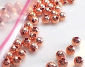 4mm Hammered Copper Round Spacer Beads Genuine Copper Bead 100 pcs. GC-304