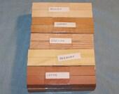 20 Domestic Wood Pen Turning Blanks, 5 Varieties, Turning Wood, Pen Turning, Pen Blanks, B21