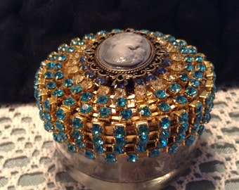 small jeweled dresser or trinket jar