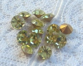 SS18 Vintage Rhinestone Light Yellow Swarovski Crystal Qty 14