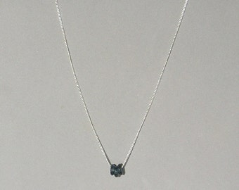 Smoky Gray Glass Donuts Necklace