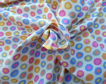 Cotton Quilting Fabric Rings Pastel by Brandon Mably for Rowan