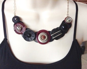 Breaking the Code button necklace