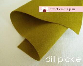 Wool Felt 1 yard cut - Dill Pickle - Wool Blend Felt
