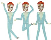 Ziggy Stardust - David Bowie articulated paper doll DIY kit by Mab Graves