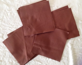 """Kona Solid """"Mocha"""" Color 5 Inch Quilt Squares, Sewing, Quilting Precut Fabric Squares, Robert Kaufman Die Cut Charm Pack, Brown Quilt Fabric"""