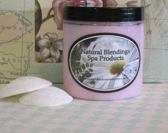 RIPE POMEGRATE Moisturizing  Sugar Scrub with Skin Loving Oil Blend in  8 oz Jar Made to Order Custom Fragrance