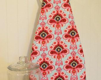 New!  Designer Ironing Board Cover - Amy Butler Belle French Wallpaper Duck Egg Blue