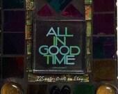 mosaic tile,incense burner,vintage,panda,incense holder,All In Good Time,recycled art,peace
