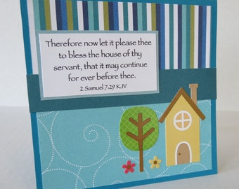 New Home Christian Housewarming Card With Scripture