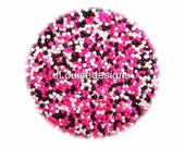 Pink Black and White Nonpareils Edible Sprinkles Cakepops Cupcake CandyConfetti Decorations 2oz.