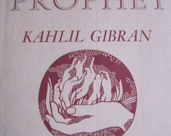 VINTAGE The Prophet by Kahlil Gibran book 1971