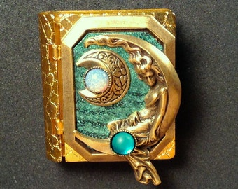 Moon Goddess Book Pin with a wonderful story inside