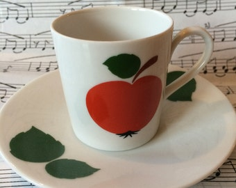 Delightful retro espresso cup and saucer : vintage Seltmann Weiden Bavaria West Germany