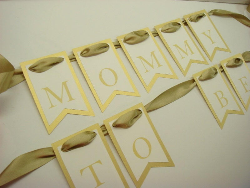 baby shower chair sign mommy to be chair banner pennant design