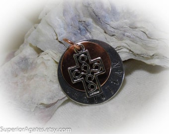 Christian Hand Stamped Necklace Aluminum Copper