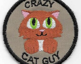 Crazy Cat Guy Geek Merit Badge Patch