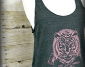 Tiger, Love Warrior Racerback Tank Top, Gift for Her, Summer Tank, Under 20,